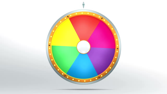 The colour graphic style of Wheel of fortune video