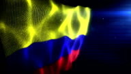The Columbian Flag - Background Loop (Full HD) video
