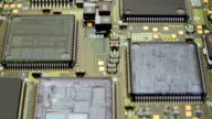 The components of the computer motherboard video