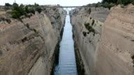 The Corinth Canal, Peloponnes, Greece video
