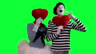The couple of mimes in love video