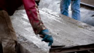 The creation of a reinforced concrete slab video