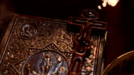 The crucifix on holy bible video
