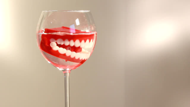 the denture hygiene is very important! video