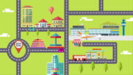 the description of city life infographic video