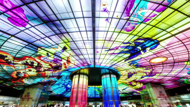 The Dome of Light at Formosa Boulevard Station in Kaohsiung City. video