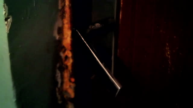 the door handle twitches,someone is trying to get in video