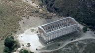 the Doric Temple At Segesta  - Aerial View - Sicily, Province of Trapani, Calatafimi-Segesta, Italy video