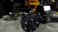 The drum brake of the equipment video