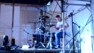 The drummer on a scene. video