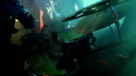 The drummer plays at a rock concert. video