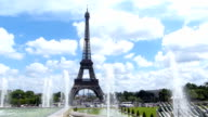 The Eiffel Tower And Fountain video