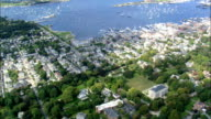 the Elms Mansion  - Aerial View - Rhode Island, Newport County, United States video