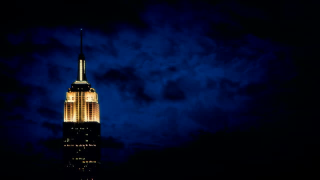 The Empire State Building At Night video