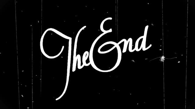 The End. HD video
