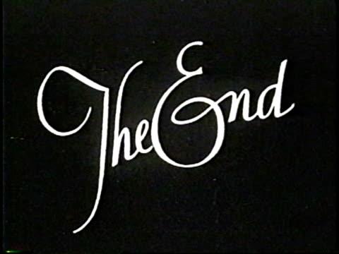 The End. NTSC, PAL video