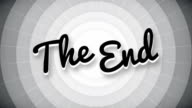The end typography old movie animation title screen video