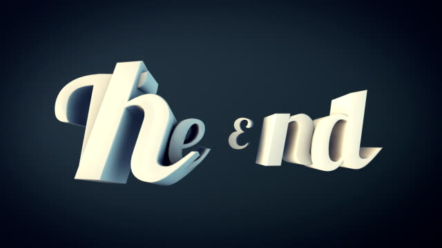 3D The End Word Animation video