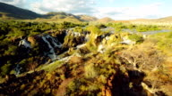 HELI The Epupa Falls With Surrounding Landscape video