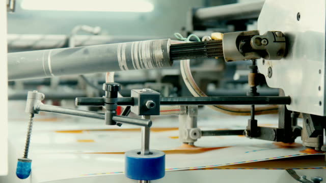 The equipment for a press in a modern printing house video