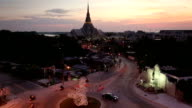 The evening light ,watsothornwararam in Thailand video
