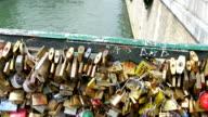 The ever famous love lock bridge in Paris video