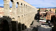 The famous ancient aqueduct in Segovia, Castilla y Leon, Spain video