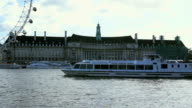 The famous Country Hall and crouise ships. London UK video