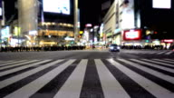 The famous Shibuya crossing at night. video