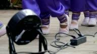 the feet of children leaving the scene slow motion video video