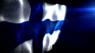The Finnish Flag - Background Loop (Full HD) video