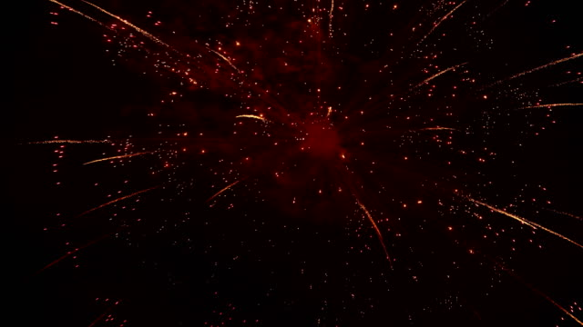 the fireworks in the night sky video