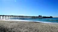 The fishing pier in Imperial Beach, San Diego California. video