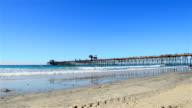 The fishing pier in Imperial Beach, San Diego California. video