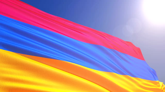 The flag of Armenia video