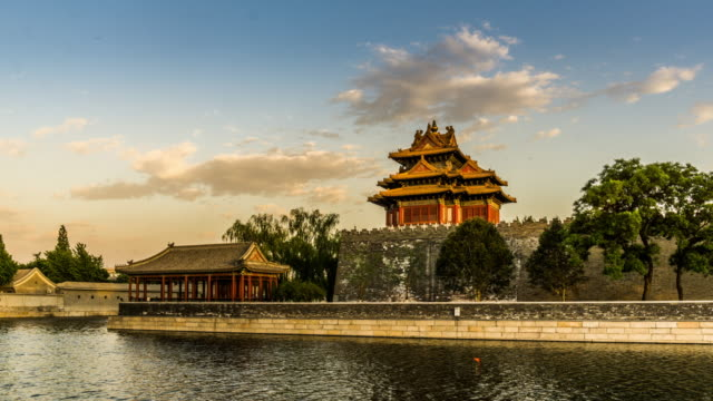 The floating cloud above the gate tower of the Forbidden City, Beijing, China video