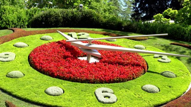 GENEVA, SWITZERLAND : The flower clock in Geneva. video