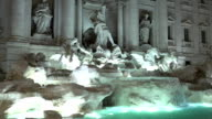 The fountain of Trevi in Rome - famous landmark video