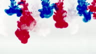 The French flag drawn in water with water colors video