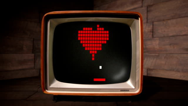 The Game of Love like a retro computer game video
