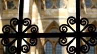The gate of the Westminster Abbey church in London video