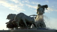 The Gefion Fountain in Copenhagen, Denmark video