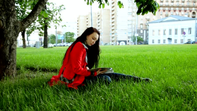 The Girl is Reading in the Park video
