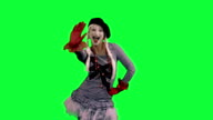 The girl mime funny dancing video