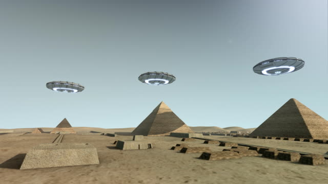 The Giza platform Egypt with some UFOs video