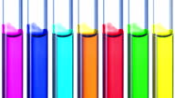 The glass tube decreases the level of ink of different colors video