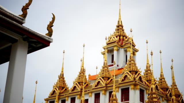The golden pagoda at Ratchanatdaram Temple video