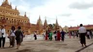 The golden Shwezigon Pagoda in Bagan, Myanmar video
