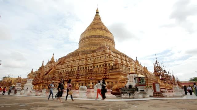 The golden Shwezigon Pagoda video