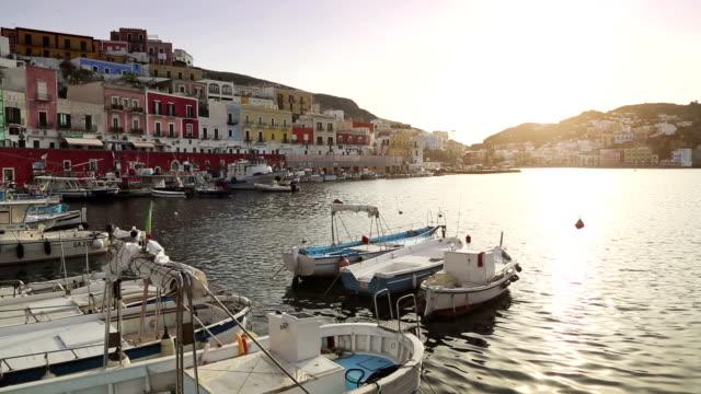 The harbor of Ponza, in the Tyrrhenian Sea video